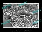 OLD LARGE HISTORIC PHOTO OF DANVILLE PENNSYLVANIA, AERIAL VIEW OF CITY c1935