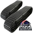 "2 Rubber Tracks Fits Terex PT75 PT80 PT110 PT100G 18"" Wide Straight Bar Tread"