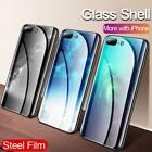 Star Space Tempered Glass Phone Case For iPhone XS MAX XR XS X 8 7 6s 6 Plus Lux