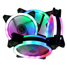 Mid ATX Tempered Glass Computer Gaming PC Case USB 3.0 Mini ITX 4 RGB Fans Mount