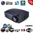 7000 Lumens Wifi 1080P HD LCD Android Projector Office Home Theater HDMI USB US