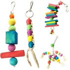 Parrot Pet Bird Chew Cages Hang Toys Wood Rope Cave Ladder Bells Chew Toys