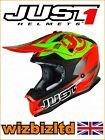 JUST1 MX Helmet J32 PRO - Rave Red-Lime - Small JUS311S