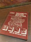1984-86 motor technical service bulletins imported cars