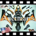 For Yamaha YZF-R6 2006-2007 Fairing Bodywork ABS Matt Black Orang 4d51 PA