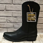 MENS BLACK GRINDERS LEATHER WESTERN COWBOY BOOTS CALF LENGTH SIZE UK 11