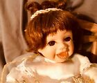 musical wind-up merry go around angel open mout doll vintage