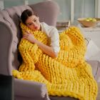 120*100cm Chunky Knit Blanket Throw Wool Thick Line Yarn Handmade Home Decor New image