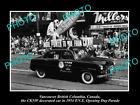 OLD HISTORIC PHOTO OF VANCOUVER CANADA, PNE PARADE, THE 1954 CKNW RADIO FLOAT