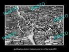 OLD LARGE HISTORIC PHOTO OF SPALDING ENGLAND, AERIAL VIEW OF THE TOWN c1930 4
