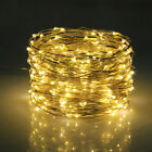 10/20M LED Solar String Lights Waterproof Copper Wire Fairy Outdoor Garden Xmas