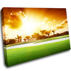 Golf Course Tropical Sunset Printd Wall Print Sits Art Canvas Mount Room H240