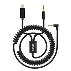 Aux Cable Compatible for Phone XS/7, XIIVIO 2 in 1 Spring [Extend to 6.5ft] Cord