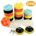 MATCC 22Pcs Polishing Pads Sponge and Woolen Polishing Waxing Buffing Pad Kits