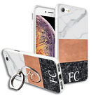 Personalised INITIALS MARBLE Back Case+Phone Ring Stand for Various Models- 3290