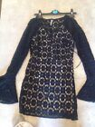 Free Peoplle dress bellSleeve  uk size 8 tie at neckline.zip side