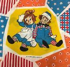 TWIN Set Vintage Raggedy ANN n ANDY Bobbs-Merrill Flat Fitted Sheet by Pacific