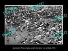 OLD LARGE HISTORIC PHOTO OF LEWISTOWN PENNSYLVANIA, AERIAL VIEW OF FLOOD c1936 2