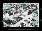 OLD LARGE HISTORIC PHOTO OF SUNBURY PENNSYLVANIA, AERIAL VIEW OF TOWN FLOOD 1936