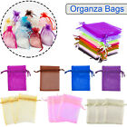 100 Organza Favour Gift Bags Jewellery Pouch Wedding Party Candy 9x12 And 13x18