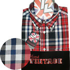 Warrior UK England Button Down Shirt JONES-RWB Slim-Fit Skinhead Mod Retro