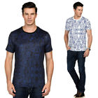 Men's Slim Short Sleeve T-Shirt Summer Stretch Paisley Floral Casual Tee Tops
