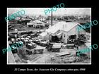 OLD LARGE HISTORIC PHOTO OF EL CAMPO TEXAS, THE ISAACSON COTTON GIN c1900