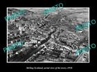 OLD LARGE HISTORIC PHOTO OF STIRLING SCOTLAND, AERIAL VIEW OF THE TOWN c1930 1