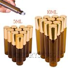 Hot 10PCS 5/10ML Gold Roll on Glass Bottle Essential Oil Metal Roller Ball Empty