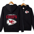 Kansas City Chiefs Hooded Hoodie Zip Front jacket coat women men warm Sweatshirt on eBay