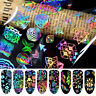 8 Sheets Nail Art Stickers Toenails Foil Decal Manicure Home Accessories 2019 UK