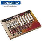 TRAMONTINA Tableware Set 12 Pcs.Pizza Steak Cutlery BBQ Fork Knife Churrasco
