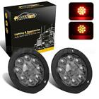 """2) 6.5"""" Oval Smoke Lens Red Stop Tail Turn Signal Light Lamp 6LED IP67 Universal"""