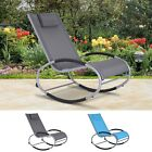 Outdoor Zero Gravity Patio Furniture Lounge Sling Chair Recliner Rocker Sofa