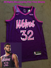 NEW Prince Inspired Minnesota Timberwolves Karl Anthony Towns Purple City Jersey