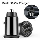 3.1a Fast Charging Dual Usb Mini Car Charger 12-24v Adapter For Iphone Samsung