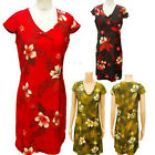 VINTAGE Floral Flower Printed Summer Dress in 3 colours - size 6 to 14