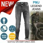 PMJ Legend Motorcycle Mens Slim Fit Jeans│EN 13595-2 Tested│100% TWARON│Grey