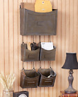 Metal Wall Organizers Rustic Bin Wall Mount Hanging Office Storage Crafts 5 PC