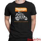 Triumph Union Motorcycle Classic Logo Men's Black T-Shirt Size S to 3XL $18.99 USD on eBay