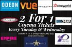 2 for 1 Cinema Ticket Code - Odeon Vue Showcase Cineworld +More - Quick Delivery