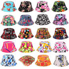 Womens Floral Bucket Boonie Hats Fishing Foldable Outdoor Summer Sun Beach Caps