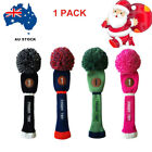 Golf Pom Pom Headcover Driver Fairway Hybrid Golf Club Head Covers AU Gift