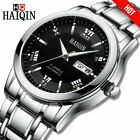 HAIQIN Luxury Men's watch Automatic mechanical waterproof watch men Silver