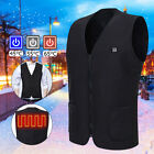Mens Electric Sleeveless Vest Heated Cloth Jacket USB Winter Warm Heating Coat
