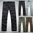 Mens Cargo Combat Hiking Trousers Pants Work Windproof Mild Waterproof Quick-dry
