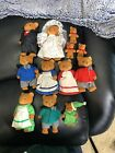 Calico Critters/Sylvanian Clones Lot Bears Family Wedding Dressed Flocked