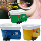 US 110V 250W Electric Pottery Wheel Ceramic Machine 25CM Work Clay Art Craft image