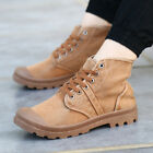 Mens Canvas Army Military Combat Boots Outdoor Hiking Work Boot Shoes Sizes