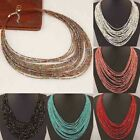 Boho Necklace Women Jewelry Beads Multi-layer Choker Statement Pendant Faddish